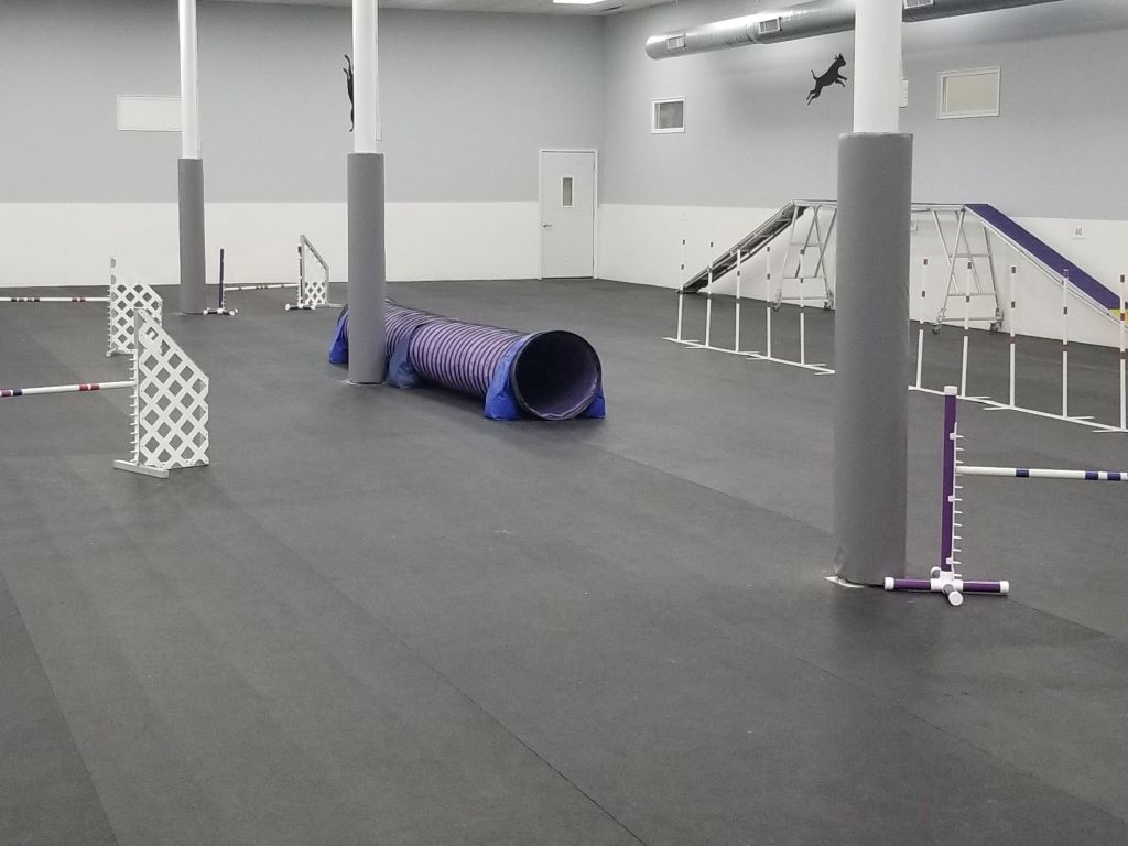 training facility pole pads