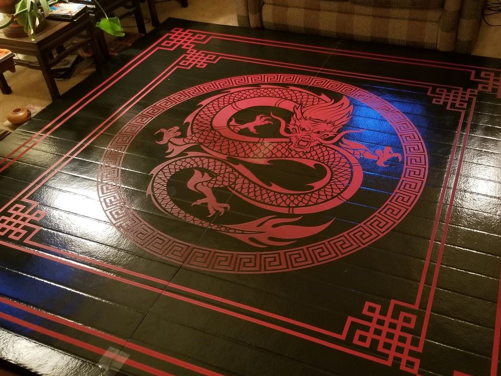 Mixed martial arts floor mat