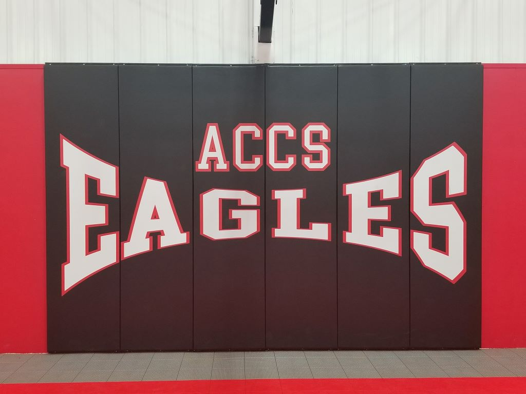 high school basketball gym wall panels