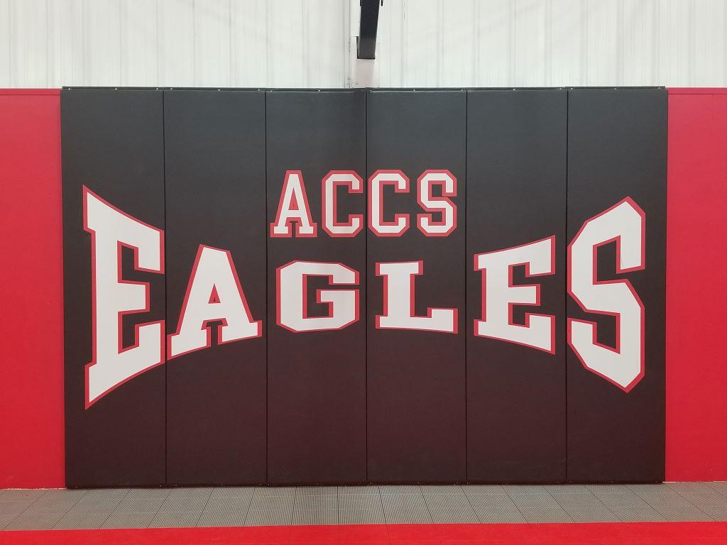 high school basketball gym wall panels