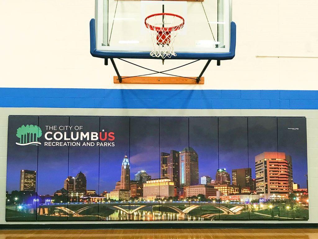 Under basketball hoop pads