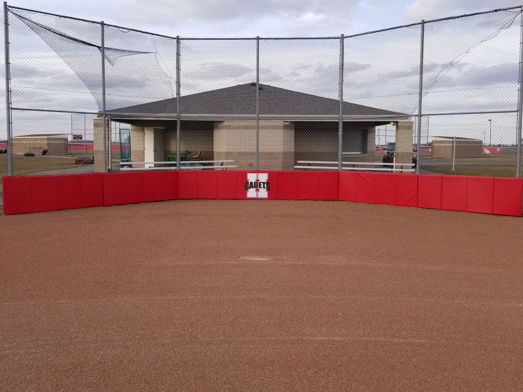 Baseball backstop pads
