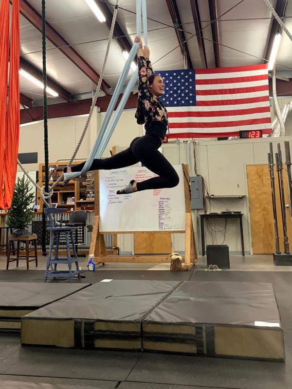 aerial arts silk adult class landing mat
