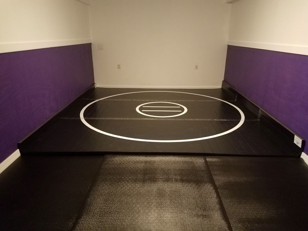 Black home wrestling room