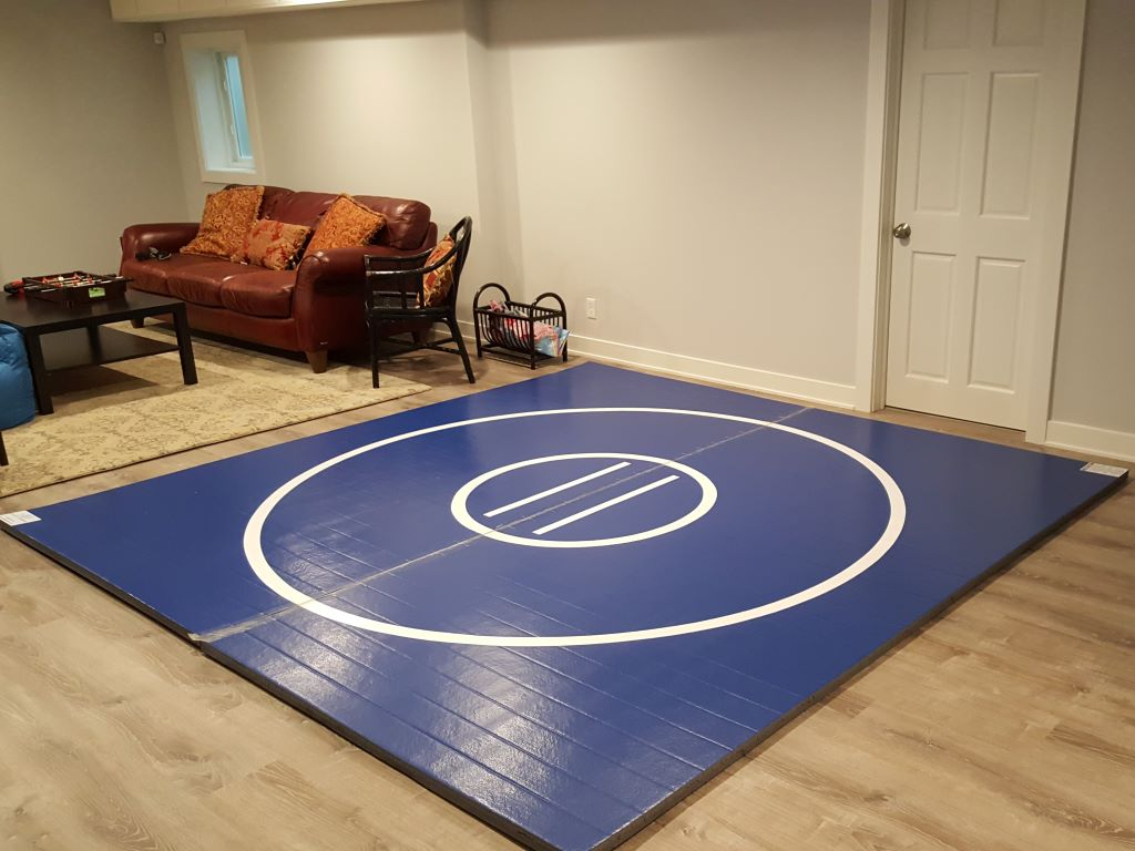home blue wrestling room