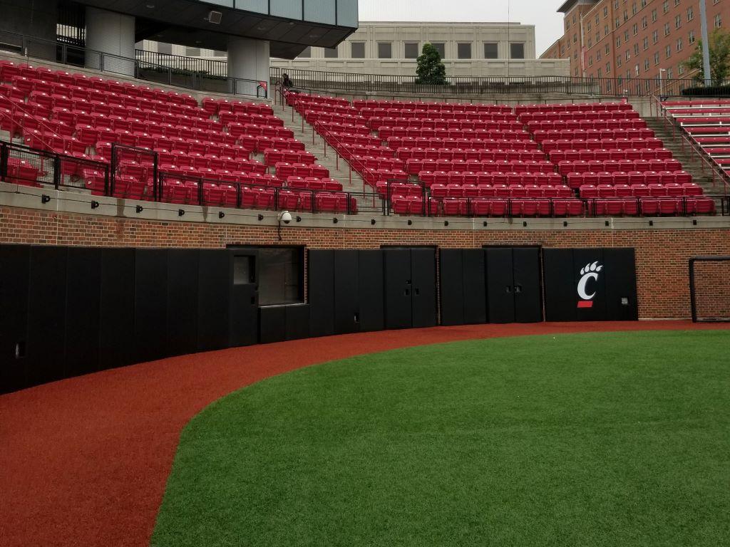 NCAA baseball backstop
