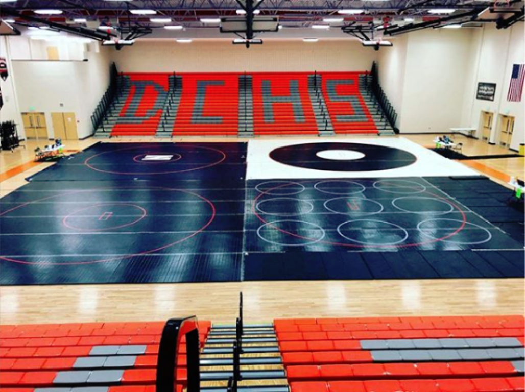 high school tournament wrestling mats