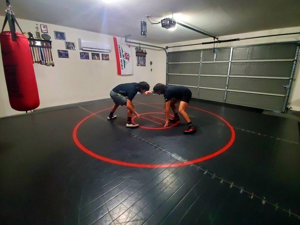 home garage wrestling mat