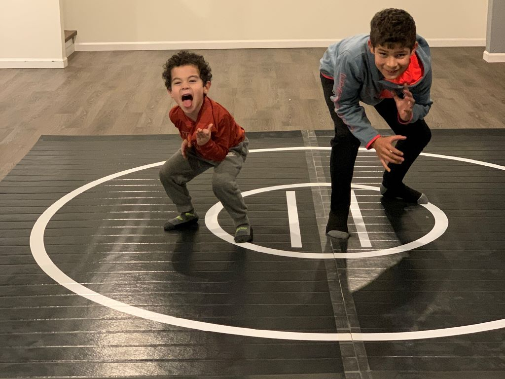 home wrestling mat