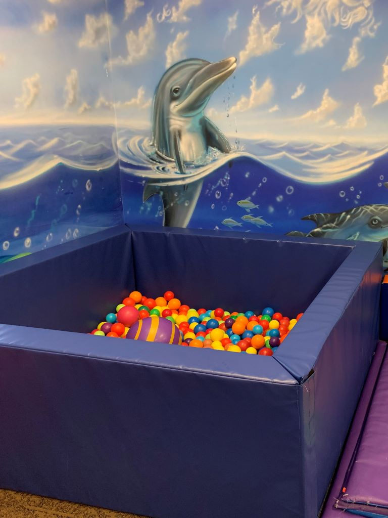 Daycare ball pit for sensory rooms