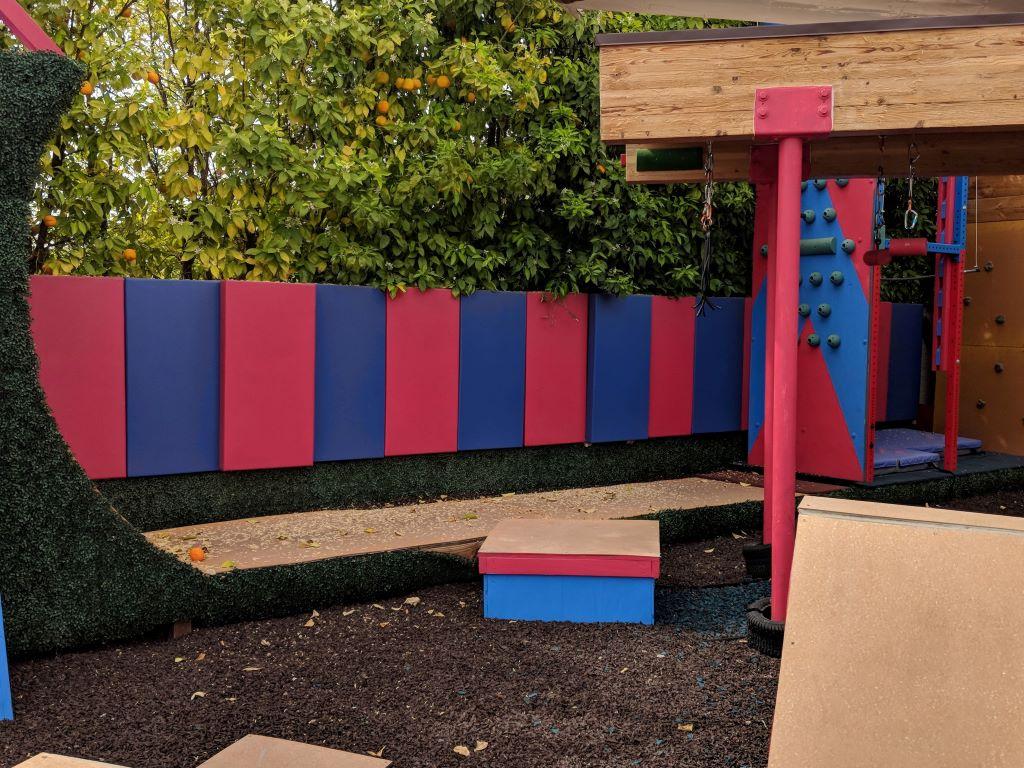 Outdoor playground padding