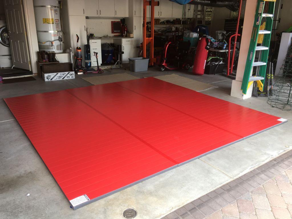 garage gym, martial arts room