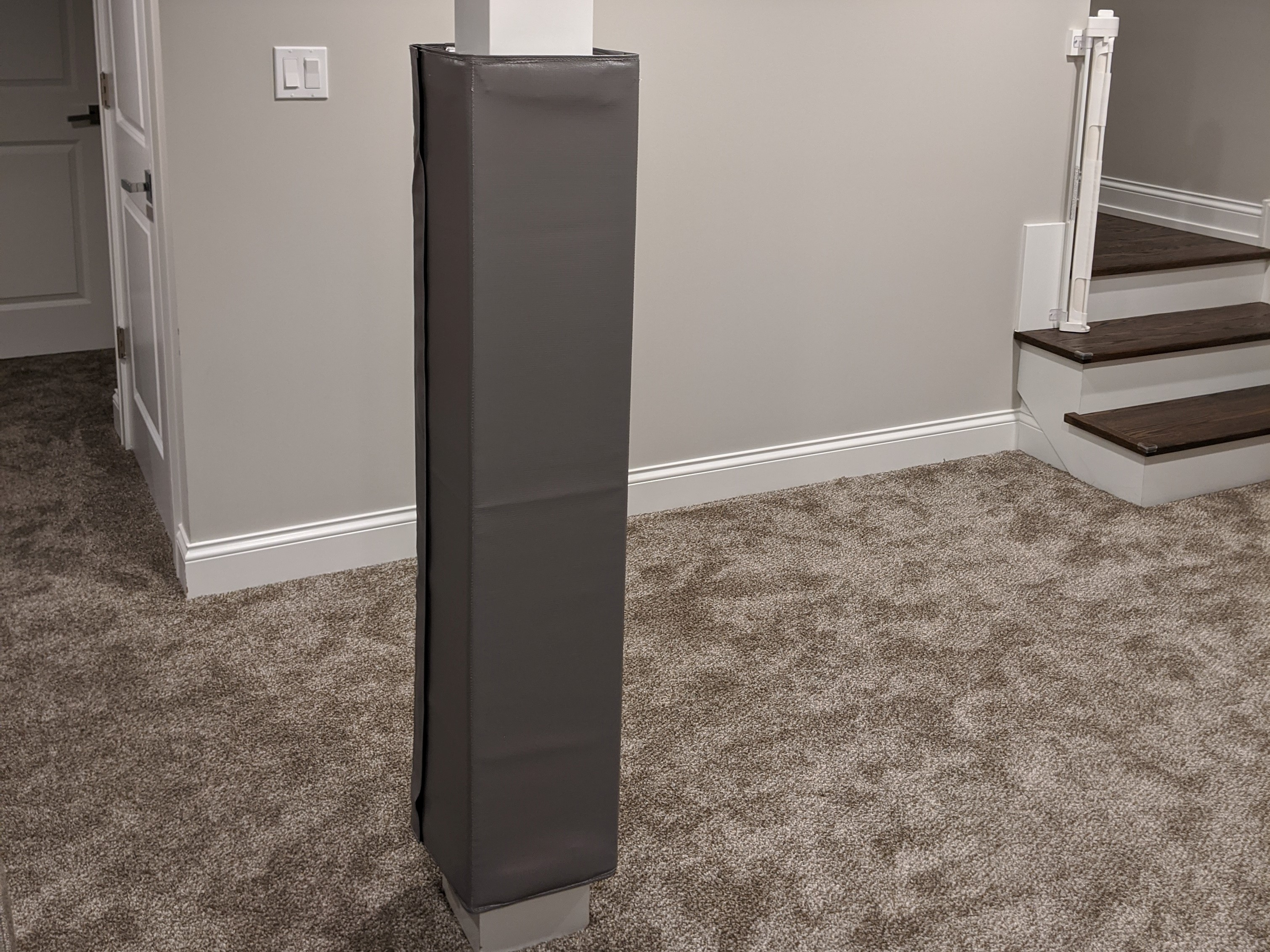 basement square pole pad cover