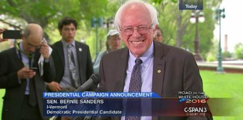 Bernie announcing his 2016 presidential campaign