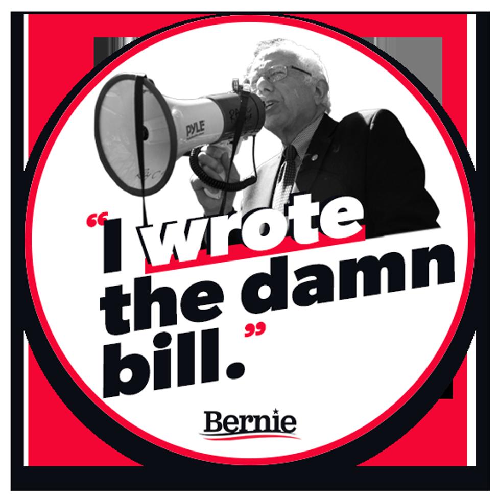I Wrote the Damn Bill sticker