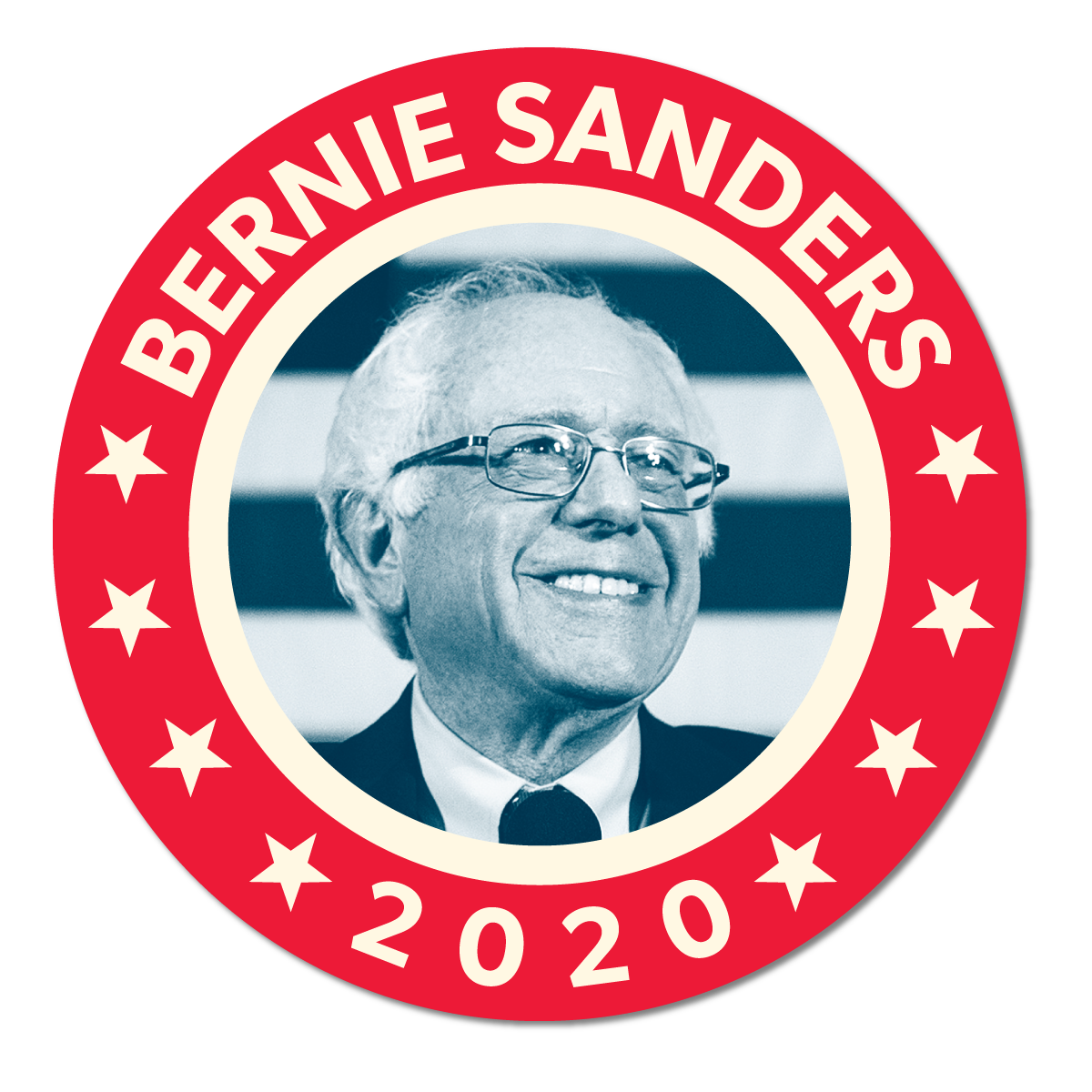 Get Your FDR-inspired Bernie Sticker