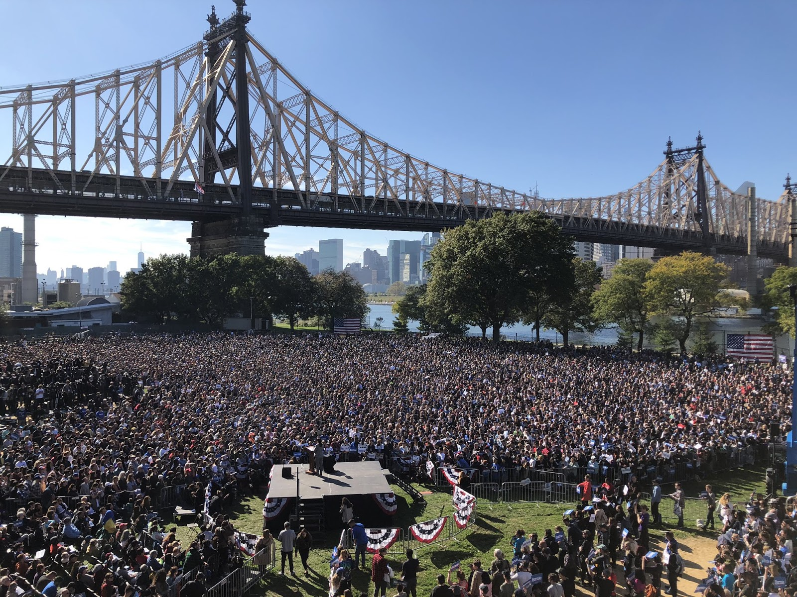 Photo of the crowd at the rally in Queens