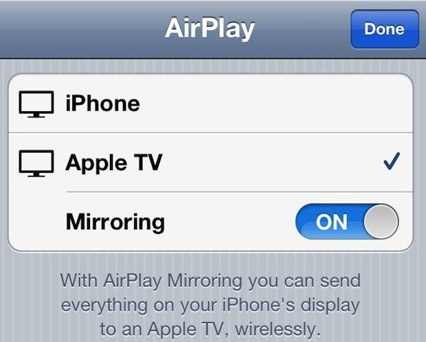 iOS Airplay Mirroring