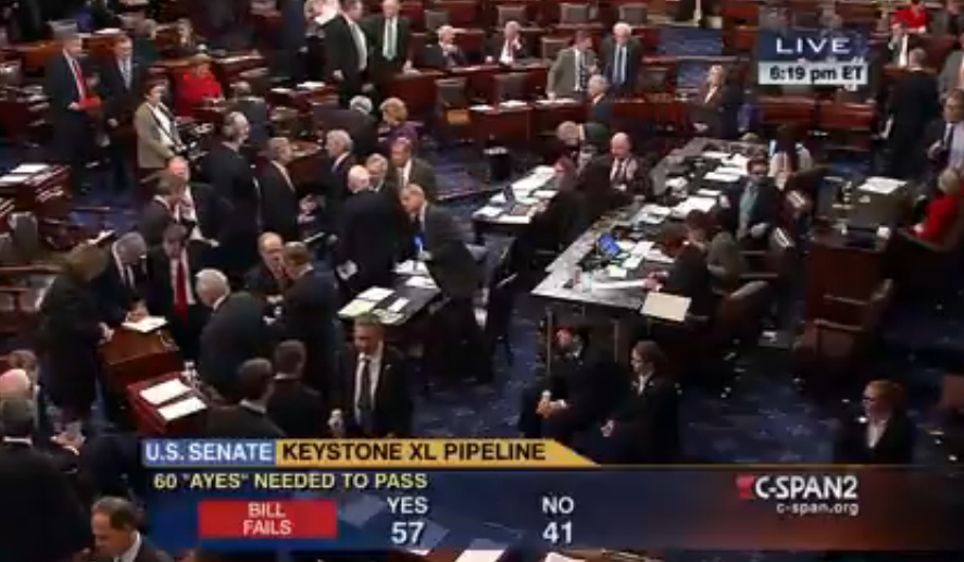Keystone XL BILL FAILS
