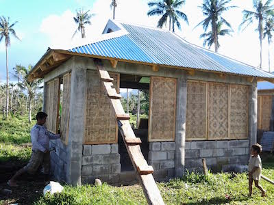 Climate relief fund for Half concrete half wood house design