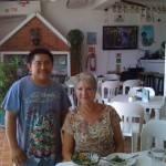 "Nan with Artist Efrain ""Chino"" Cetz"