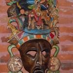 """Mask by Artist Efrain """"Chino"""" Cetz"""