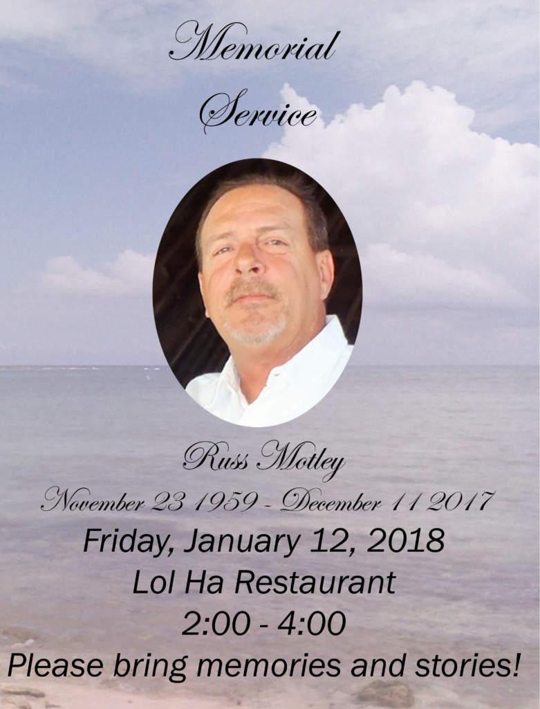 Russ Motley Memorial Service