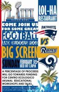 Super Bowl at Lol Ha @ Lol Ha Restaurant