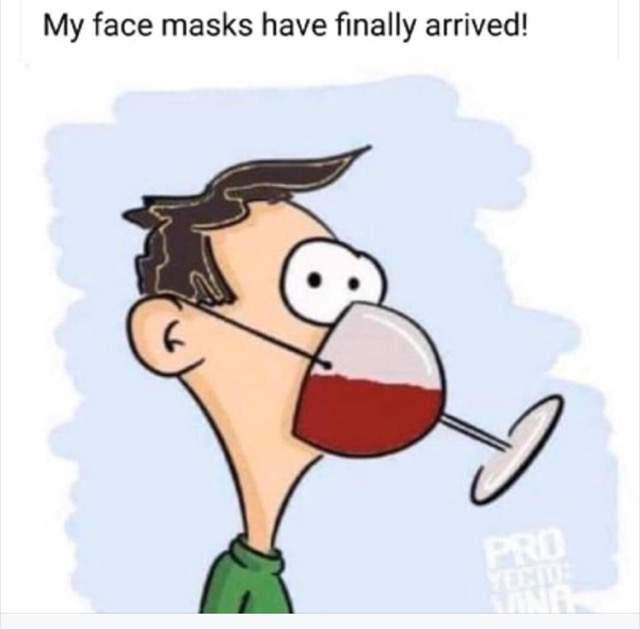Mask wine