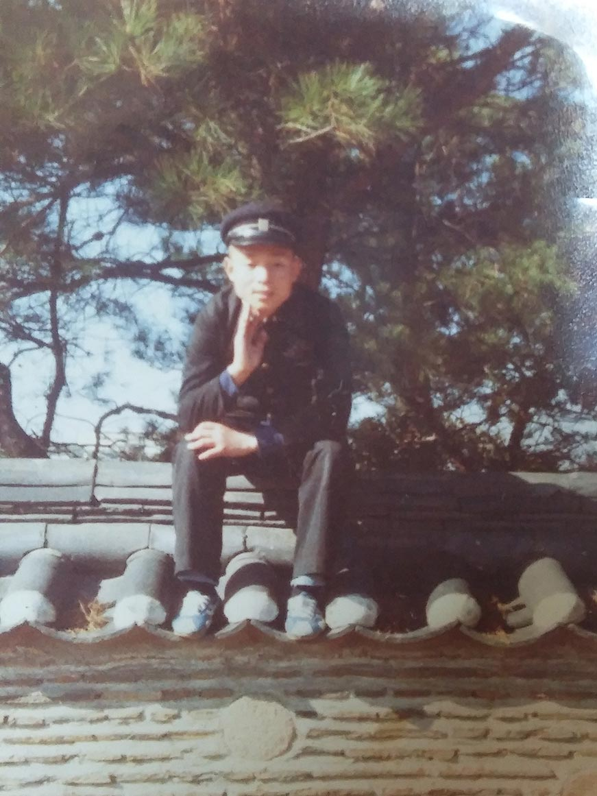 Mr. Woo in middle school in Korea.