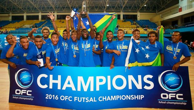 The Kurukuru with their fifth OFC futsal championship.