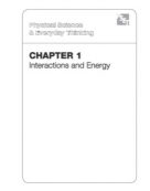 Chapter 1: Interactions and Energy