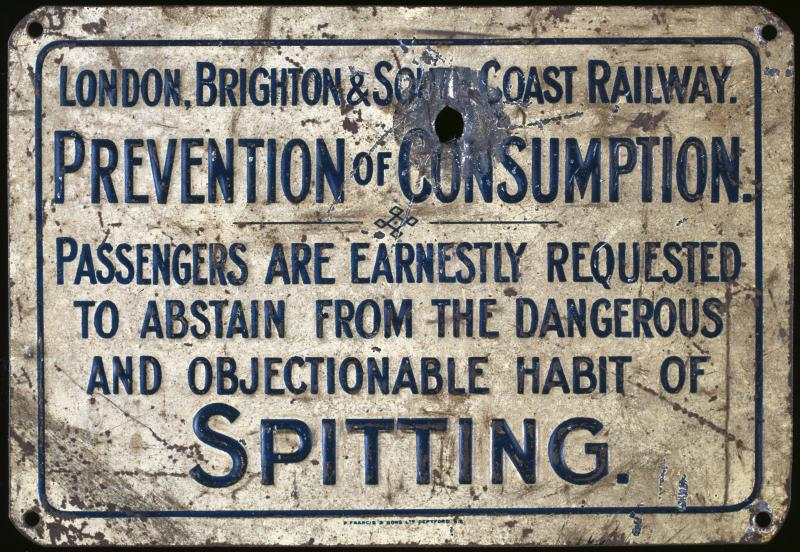 respiratory history london railway sign tb prevention 240194444 std