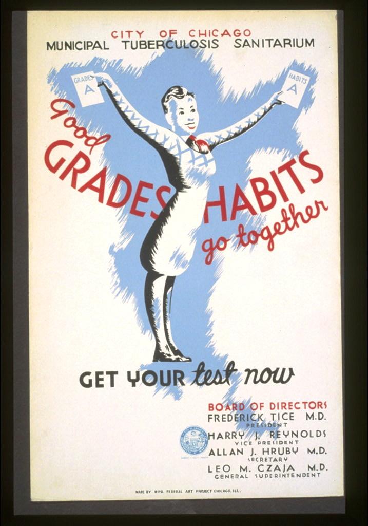 Art-Poster-WPA-Good-Grades-Good-Habits-Tuberculosis