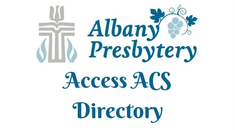 Albany Presbytery Access ACS Directory FB