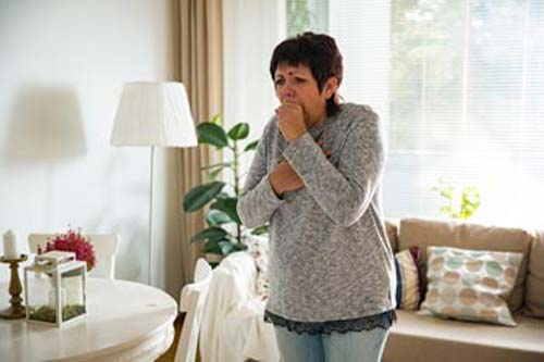 Symptoms of upper respiratory tract infection