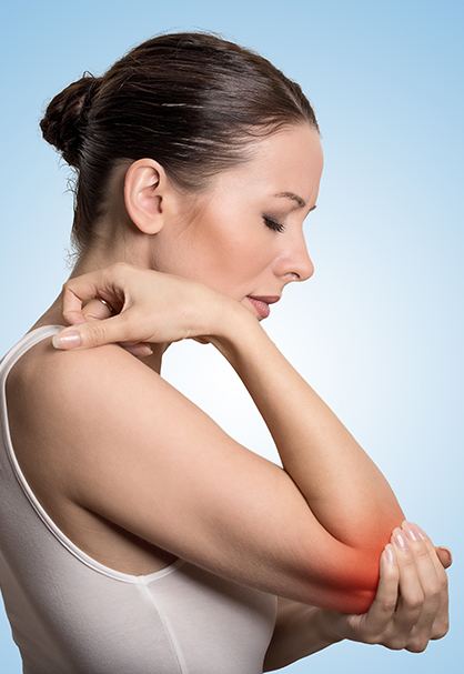 Girl suffering from Elbow Pain