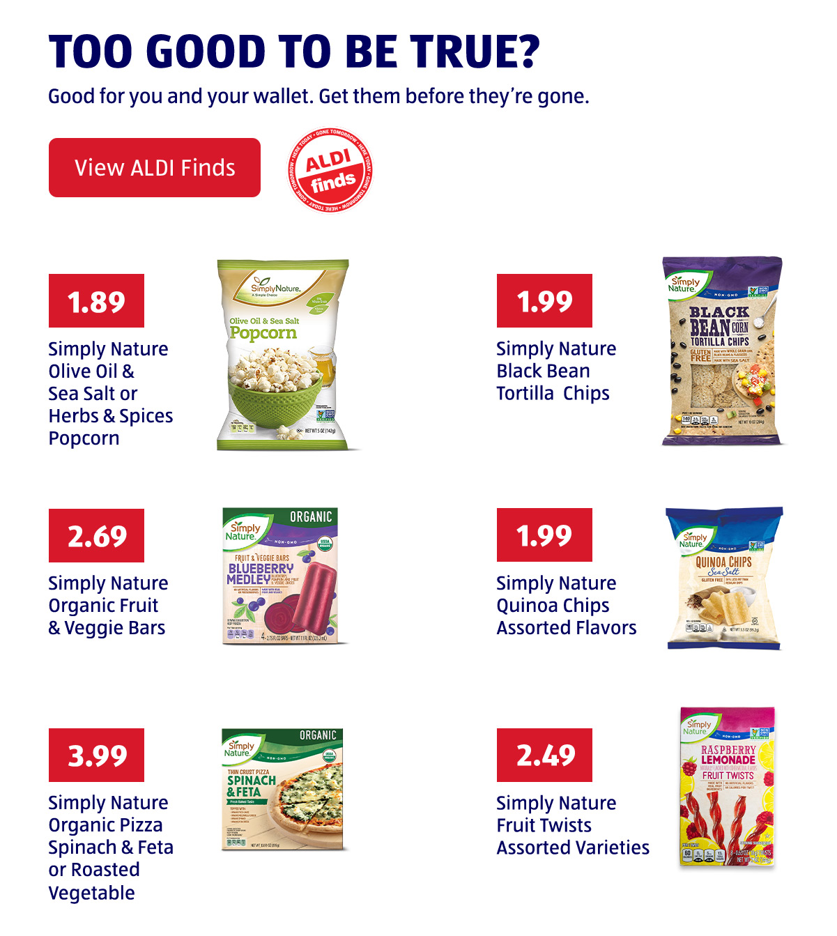 ALDI - Better snacks at better prices now at ALDI