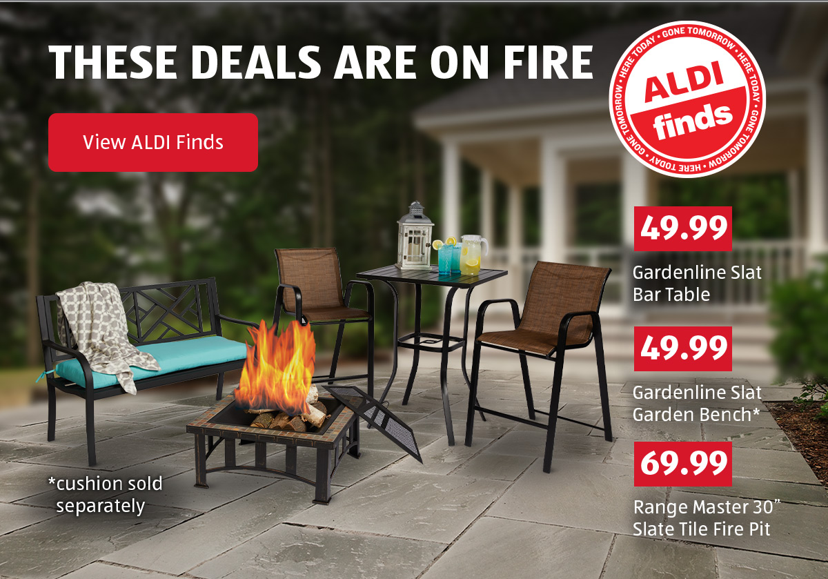 These Deals are on Fire. ALDI Finds. View ALDI Finds.