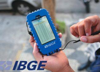 Imagem máquina de coleta de dados para censo Concurso IBGE