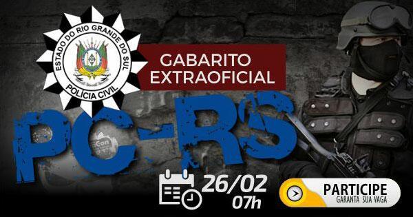 Gabarito Extraoficial PC RS