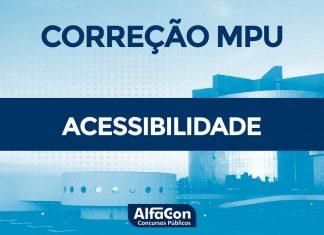 Gabarito Extraoficial MPU 2018 - Comentários de Acessibilidade