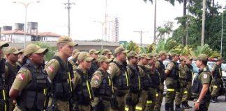 Policiais em formação - Concurso PM PA