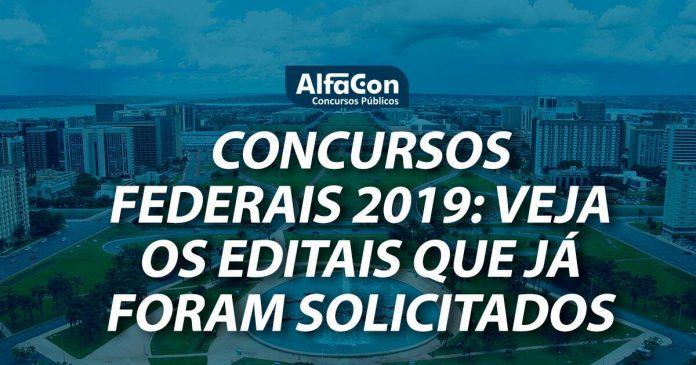 Concursos federais 2019