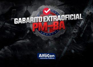 Gabarito Extraoficial PM BA 2020