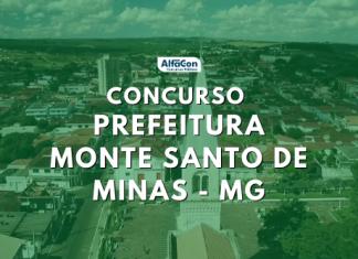 Concurso Prefeitura de Monte Santo de Minas MG abre inscrições para 480 vagas