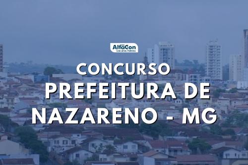 Concurso Prefeitura de Nazareno MG: inscrições ampliadas para 13 vagas