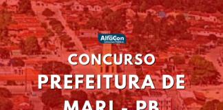 Com salários de até R$ 8,5 mil, concurso Prefeitura de Mari reúne oportunidades destinadas a profissionais de níveis fundamental, médio/técnico e superior de ensino