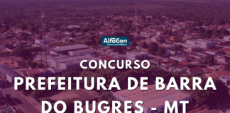 As chances do concurso de Barra do Bugres são destinadas a candidatos de todos os níveis escolares. Remunerações chegam a R$ 6,3 mil