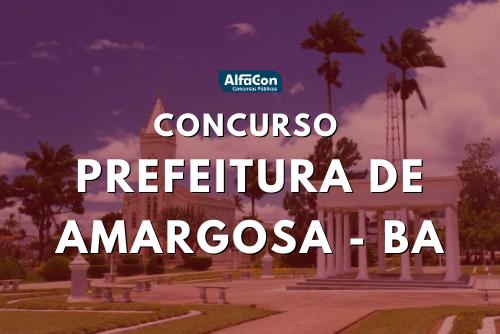 O concurso Prefeitura de Amargosa oferece 49 vagas em diversos cargos. Salário inicial oferecido é de R$ 1.045